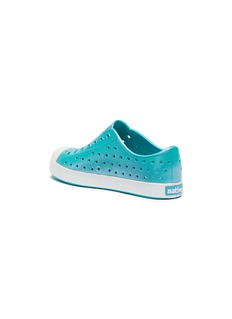 Native 'Jefferson Iridescent' perforated kids slip-on sneakers