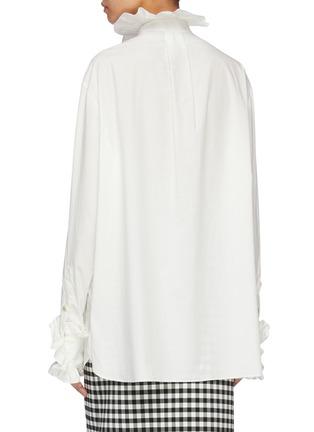 Back View - Click To Enlarge - Gucci - Ruffle trim long shirt
