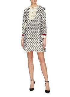 Gucci Lace bib GG macramé dress
