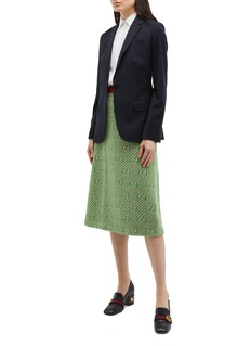 Gucci GG metallic logo wool knit skirt