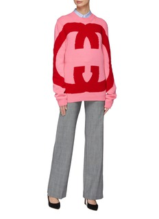 Gucci GG logo intarsia oversized wool sweater
