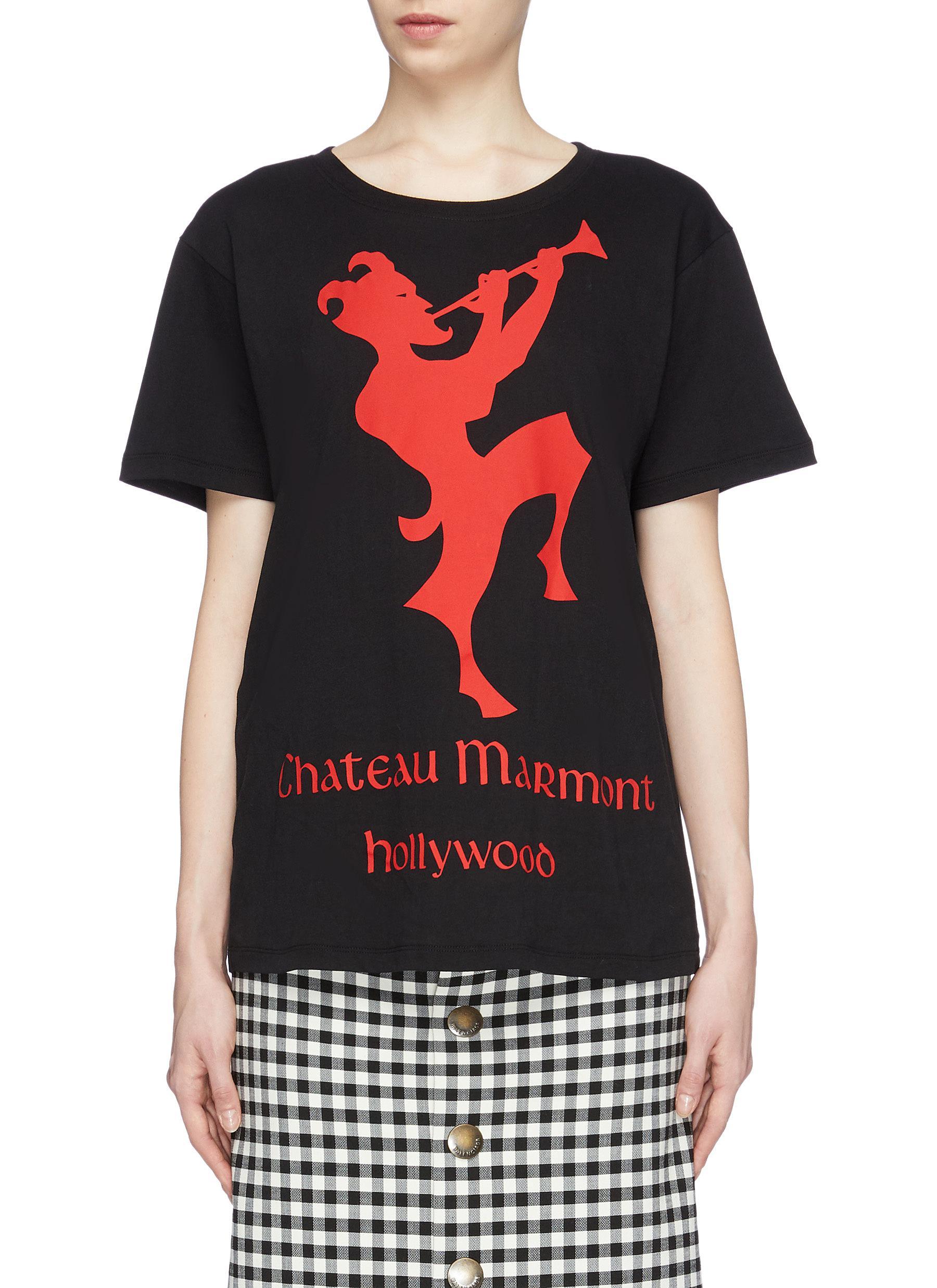 6295d1a1512bac Gucci   'Chateau Marmont' graphic print T-shirt   Women   Lane Crawford