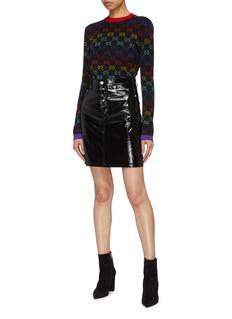 Gucci GG logo jacquard wool sweater