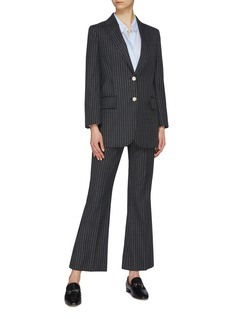 Gucci Logo stripe wool flared pants