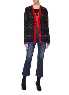 Gucci GG logo jacquard wool V-neck cardigan