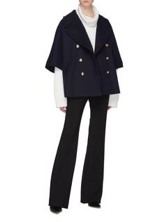 Gucci Notched lapel double breasted cocoon coat