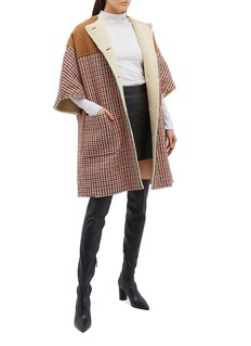 Gucci Rib panel houndstooth cocoon coat