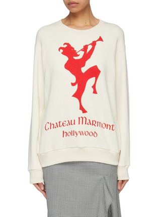 Main View - Click To Enlarge - GUCCI - 'Chateau Marmont' graphic print sweatshirt