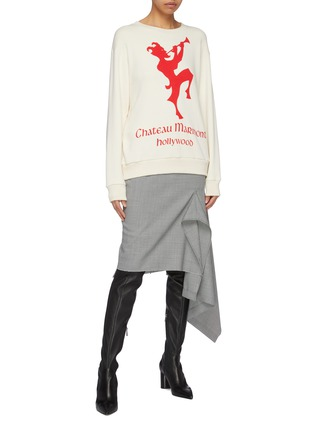 Figure View - Click To Enlarge - GUCCI - 'Chateau Marmont' graphic print sweatshirt