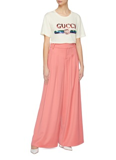 Gucci Sequin logo oversized T-shirt