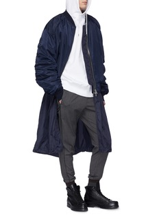 Juun.J Two-in-one bomber jacket and long zip vest