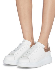 Alexander McQueen 'Larry' chunky outsole glitter collar leather sneakers