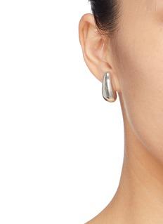 HYÈRES LOR 'Champagne Moon' silver pear earrings