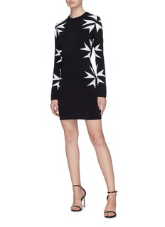 Neil Barrett Maltese cross intarsia knit dress