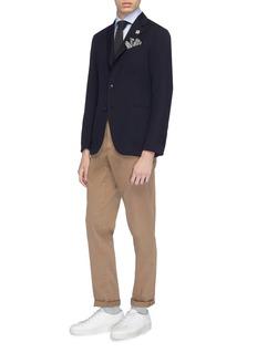 Lardini 'Easy Wear' wool-cotton hopsack soft blazer