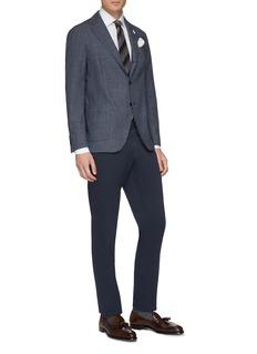 Lardini 'Easy Wear' packable check plaid wool soft blazer