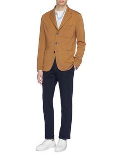 BARENA 'Naci Tamina' Mandarin collar stripe linen shirt