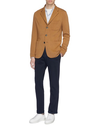 Figure View - Click To Enlarge - BARENA - 'Torceo Mesola' soft blazer