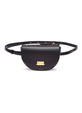 Main View - Click To Enlarge - WANDLER - 'Anna' leather buckled belt bag