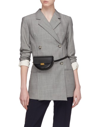 Figure View - Click To Enlarge - WANDLER - 'Anna' leather buckled belt bag