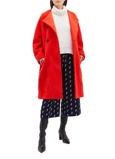 Chloé Belted double breasted brushed wool blend coat