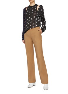 Chloé Cutout horse monogram patchwork jacquard sweater