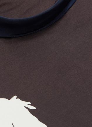 - Chloé - Sash neck horse print T-shirt
