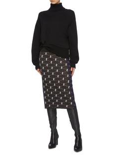 Chloé Horse monogram patchwork jacquard knit skirt