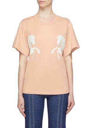 Main View - Click To Enlarge - Chloé - Horse print T-shirt