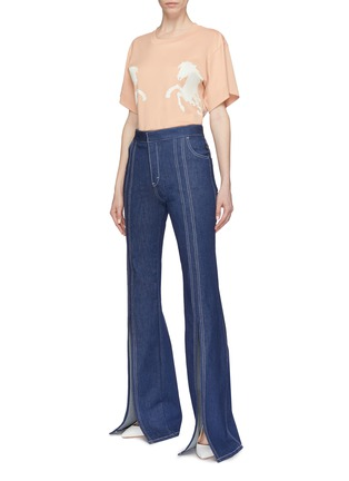 Figure View - Click To Enlarge - Chloé - Horse print T-shirt