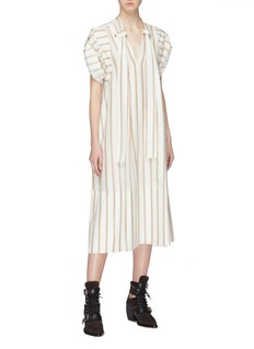 Chloé Sash neck stripe silk tunic dress