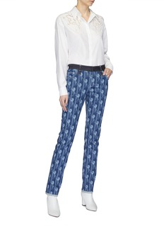 Chloé Horse print stripe jeans