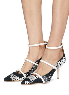 Malone Souliers x Emanuel Ungaro 'Robyn' polka dot strappy pumps