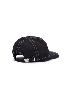 A-COLD-WALL* Logo embroidered contrast topstitching baseball cap