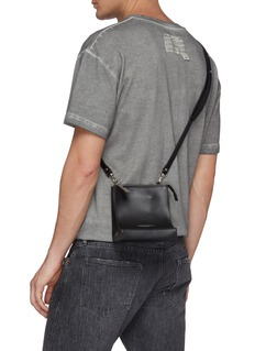 A-COLD-WALL* Logo print curved leather crossbody bag