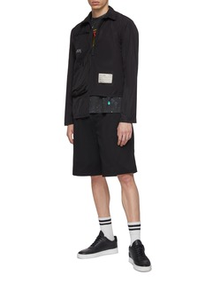 A-COLD-WALL* Detachable panel chest pocket zip placket polo shirt