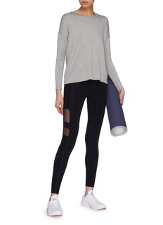 Beyond Yoga 'Draw The Line' tie back Micromodal® jersey long sleeve T-shirt