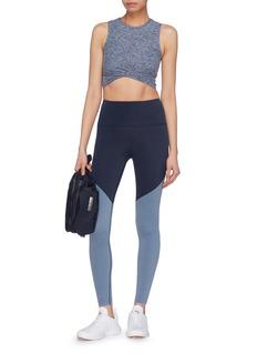 Beyond Yoga 'Plush' colourblock performance midi leggings