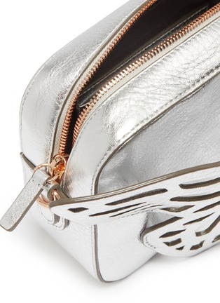 Detail View - Click To Enlarge - SOPHIA WEBSTER - 'Flossy' butterfly appliqué leather camera bag