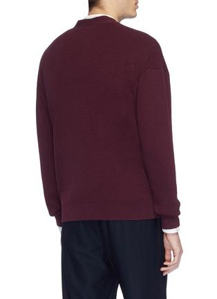 Back View - Click To Enlarge - CAMOSHITA - Cotton-cashmere cardigan