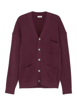 Main View - Click To Enlarge - CAMOSHITA - Cotton-cashmere cardigan