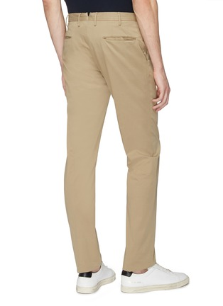 Back View - Click To Enlarge - Incotex - Slim fit twill chinos
