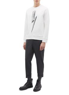 Neil Barrett Roll cuff gabardine jogging pants