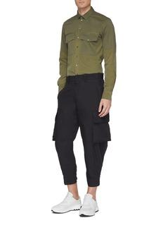 Neil Barrett Chest pocket patchwork shirt