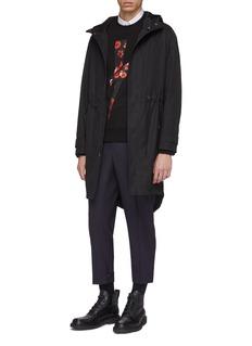 Neil Barrett Grosgrain stripe cuff gabardine pants
