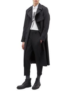 Neil Barrett Belted chest pocket trench coat