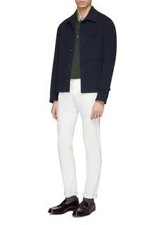 Altea Silk-cotton knit polo shirt