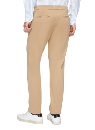 Back View - Click To Enlarge - Altea - Pleated slim fit gabardine chinos