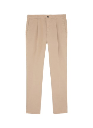 Main View - Click To Enlarge - Altea - Pleated slim fit gabardine chinos