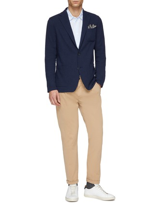 Figure View - Click To Enlarge - ALTEA - Pleated slim fit gabardine chinos
